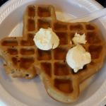 Cool Texas waffel maker at breakfast