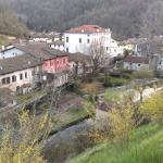 Centro di Polcenigo visto dalla chiesa