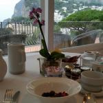 Vista do Café da Manhã na área coberta (Recepção)