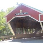 Turn left, walk 1,000 yards and there's a covered bridge