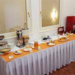 One of the three tables for the buffet
