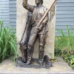 Jim Bridger statue in front of the center