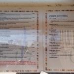 Jalama Beach menu