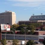 Memorial stadium view from hotel