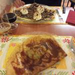 Crêpe bretonne et chocolat banane