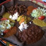 A meal for two at Abyssinia