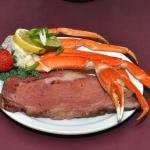 USDA Choice Prime Rib & Crab every Fri. & Sat. Night