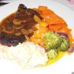 Sirloin Steak with Mushroom Demi Glaze
