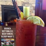 Bottomless Bloody Marys every Sunday for Sunday Funday Football