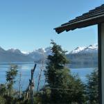 vista al lago y cordillera
