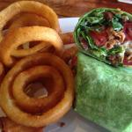 BLT Wrap Special with Onion Rings!