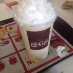 Vanilla Shake with whipped cream & a cherry on top!!!