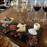 Delicious array of cheese with our flight!