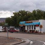 The motel restaurant
