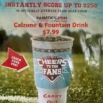 Calzone & 32 Oz Foutain Drink! $7.99