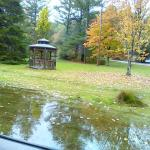 gazebo was a mess and puddles everwhere