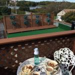 we made breakfast on the little balcony