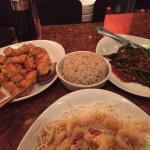 Chang's Spicy Chicken, Brown Rice, Spicy Garlic Green Beans