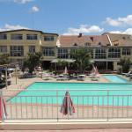 vue de l'hotel et de la Piscine