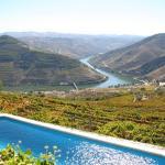 Blick von der Terrasse auf das Dourotal