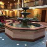 Fountain in dining area