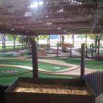 The mini golf course