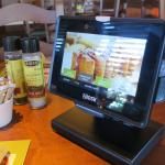 The new Ziosk system for entertainment and ordering.