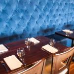 Plush Banquette Seating at SeaSalt Restaurant in Cape May, NJ