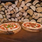 Basta pizza baked in our wood oven.