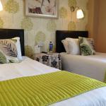 Guest twin room with en-suite shower room