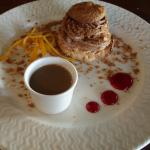 Dacquoise au chocolat, crème café