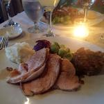 Traditional turkey dinner at Bacchus Restaurant