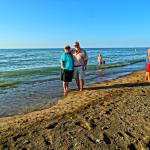 Lake Michigan is huge.  From where we are standing, it's 65 miles across to Chicago.