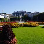 Jardines del Palacio Maribell, a unas cuadras del Hotel