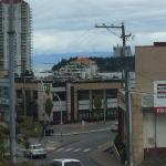View of Nanaimo from the window of the Firehouse, Restuarant, Nanaimo, BC