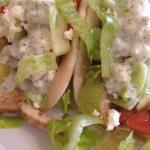 Mediterranean chicken tacos