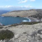 Blick vom Red Beach Trail nach Matala