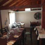 The inside, outside and the menu of the farm restaurant