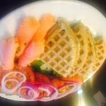 Lox and Buckwheat Waffle