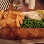 Delicious  fish & chips at The Star Inn