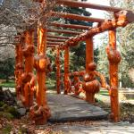one of the burl bridges in the Gardens