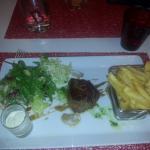 Excellent pavé  de taureau, au restaurant