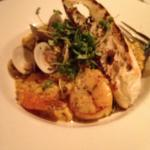 Seafood risotto - wow! Huge pieces of seafood, prepared perfectly.