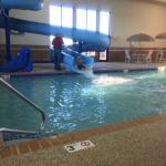 Hampton Inn's indoor pool with waterslide