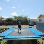 Cohen Jumping On Tramp at Ormand Street Motel