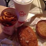 Fast lunch! This arbys is NOT good if you are using coupons, they don't honored them there, but