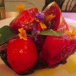 Pretty heirloom tomato salad