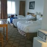 Double beds motel room. Clean, comfy, renovated. Will stay here again.