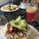"""The Works"" and the rancheros with Mary Ann and Ginger juice"