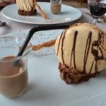 Macaron et mousse au chocolat